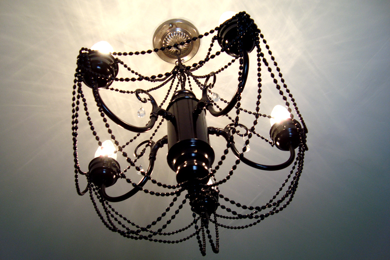 diy chandelier makeover after