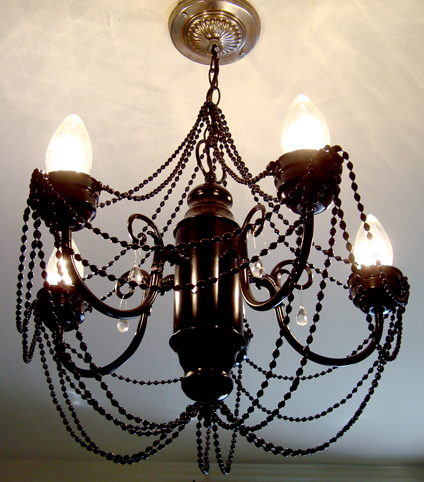 diy chandelier makeover