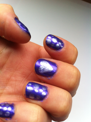 purple nails nail art