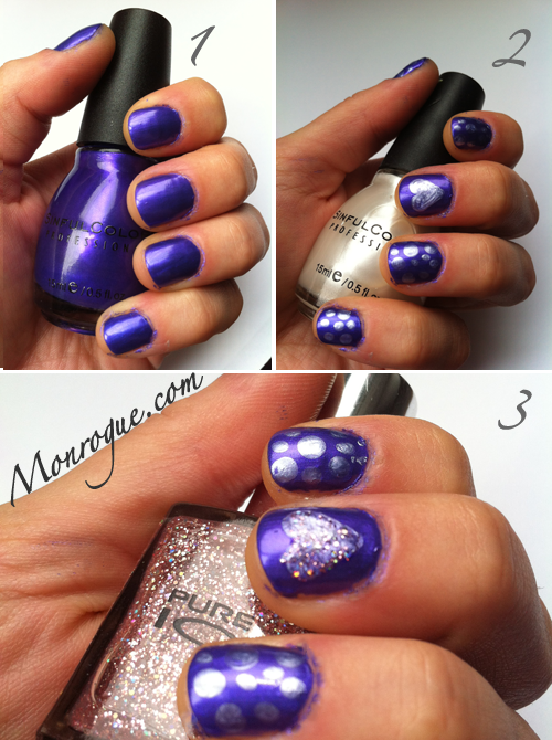 purple nails nail art