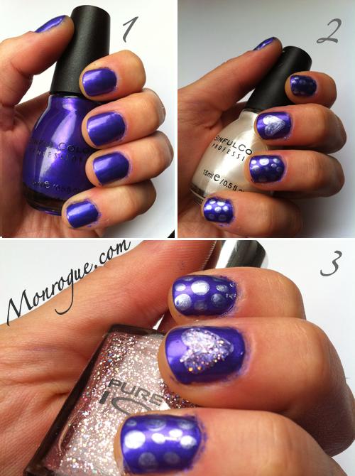 purple nails nail art polish