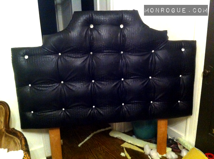 Tufted Headboard with Legs