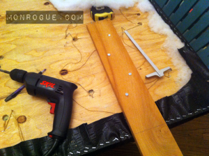 Important - make sure the legs you add are secure by staggering the screws and giving enough length actually attached to the headboard!