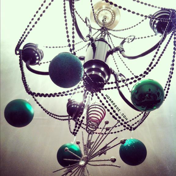 diy christmas chandelier