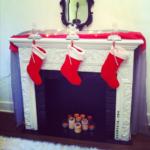 fake christmas fireplace