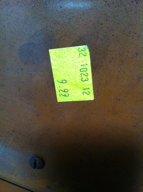bench price tag