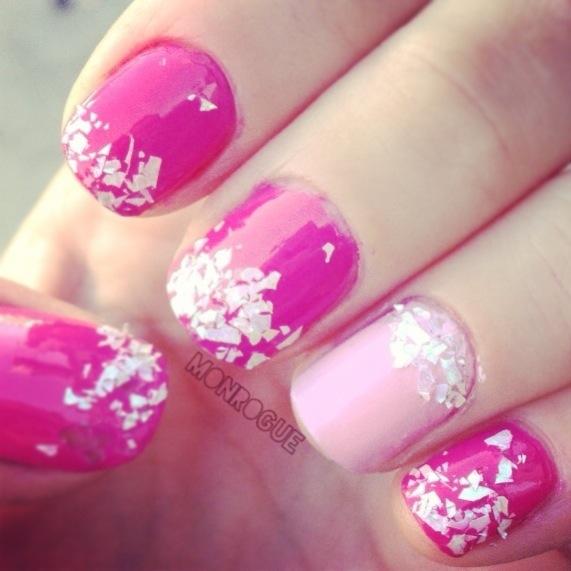 girly pink manicure