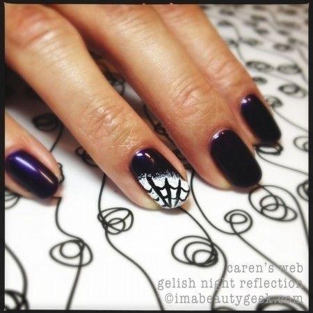 goth halloween manicure