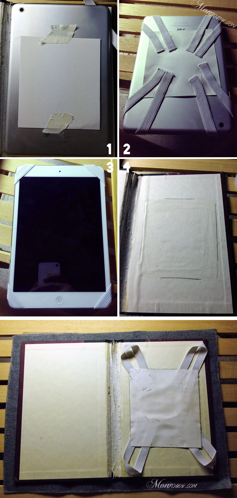 DIY iPad Case Step 2: Prep & Set Elastic - Monrogue