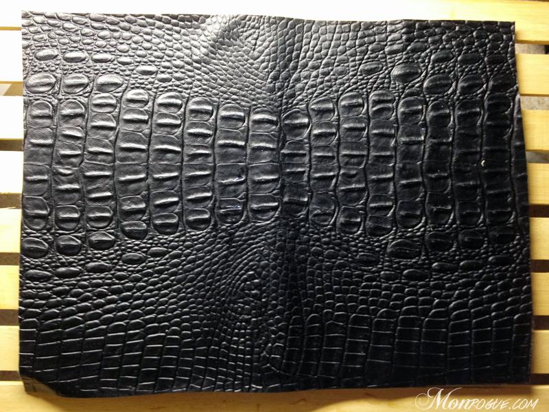 DIY iPad Case Step 3: Glue the outside cover - Monrogue