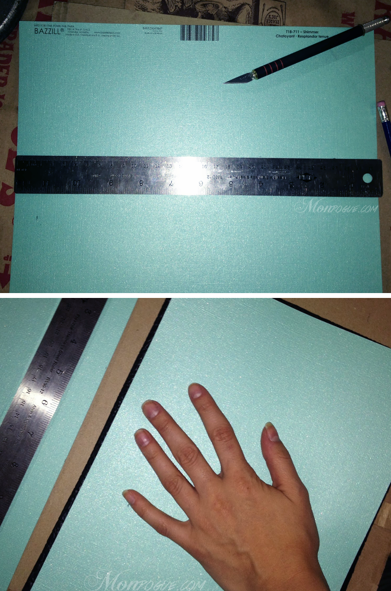 DIY iPad Case Step 5: Measure/cut inside cardstock - Monrogue