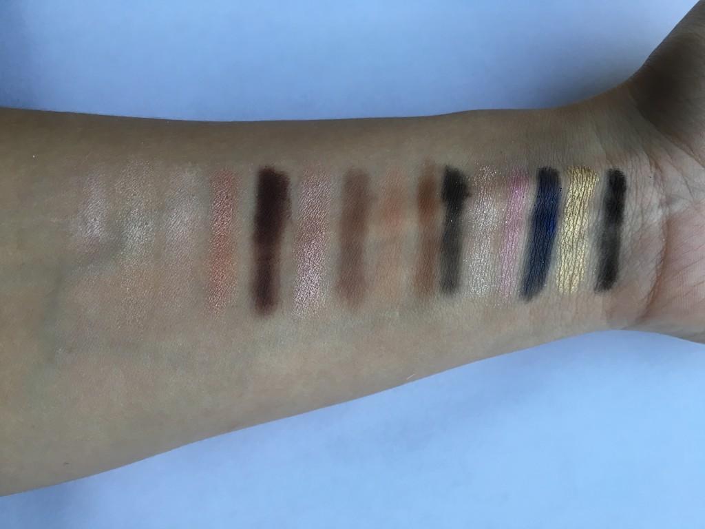 Outdoor Swatches for Gwen Stefani's Eyeshadows