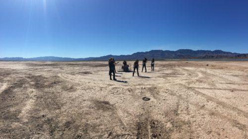Desert video shoot