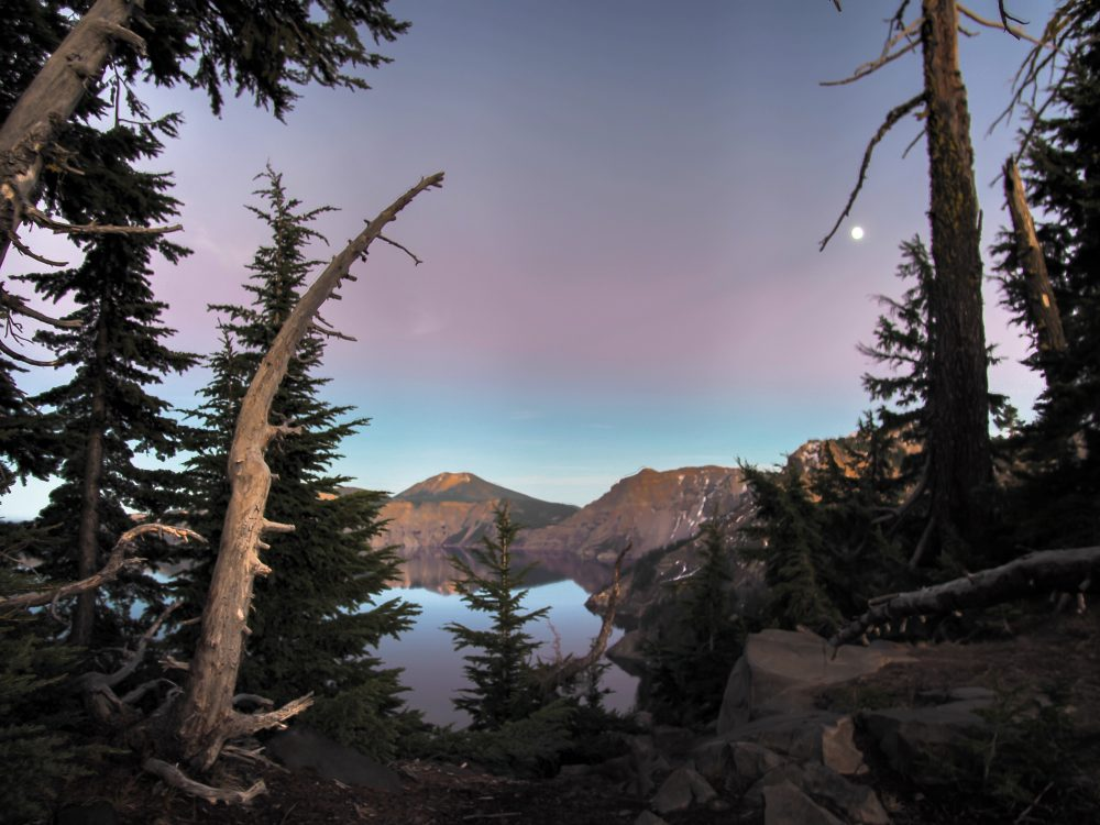 Crater Lake National Park at Sunset
